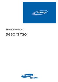 Руководство по техническому обслуживанию Samsung S630