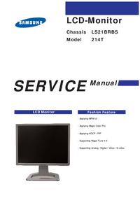 Instrukcja serwisowa Samsung 214T