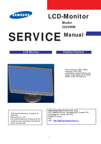 Manual de servicio Samsung 2220WM