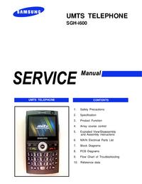 Servicehandboek Samsung SGH-i600