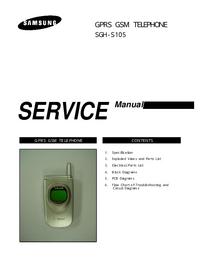 Service Manual Samsung SGH-S105