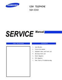 manuel de réparation Samsung SGH-E360