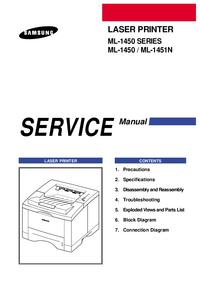 Serviceanleitung Samsung ML-1450 SERIES