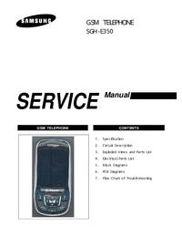 Serviceanleitung Samsung SGH-E350
