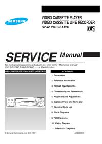 manuel de réparation Samsung SV-A12G