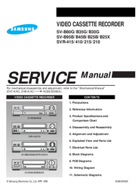 Service Manual Samsung SVR-215