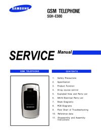 Service Manual Samsung SGH-E380