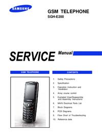 Руководство по техническому обслуживанию Samsung SGH-E200
