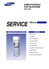 Servicehandboek Samsung SCH-1000