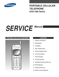 Руководство по техническому обслуживанию Samsung SCH-1500