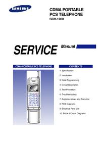 Serviceanleitung Samsung SCH-1900