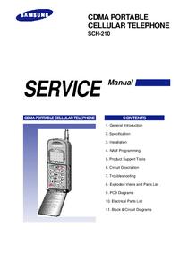 Manual de servicio Samsung SCH-210