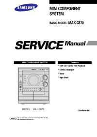 Instrukcja serwisowa Samsung MAX-C670