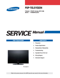 Service Manual Samsung PS50Q91HX