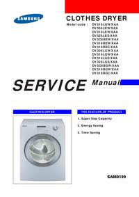 Manual de serviço Samsung DV316BGC/XAA