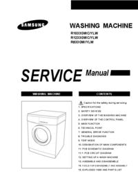 Руководство по техническому обслуживанию Samsung R1033GWC/YLW
