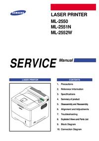 Servicehandboek Samsung ML-2552W