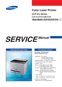 Manual de servicio Samsung CLP-31x Series