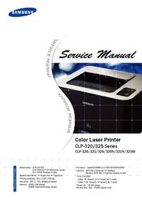 Service Manual Samsung CLP-325 Series