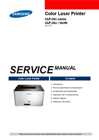 Manual de servicio Samsung CLP-36x Series