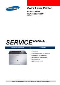 Manual de serviço Samsung CLP-415 Series
