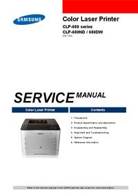 Manuale di servizio Samsung CLP-680ND
