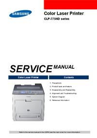 Руководство по техническому обслуживанию Samsung CLP-775ND Series