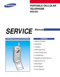 manuel de réparation Samsung SCH-620