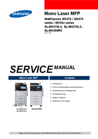 Manual de servicio Samsung MultiXpress M5370 Series