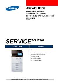 manuel de réparation Samsung MultiXpress X7 series