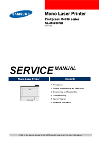 Service Manual Samsung ProXpress M4030 series