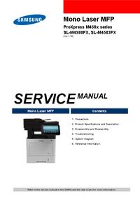 Руководство по техническому обслуживанию Samsung ProXpress M458x series