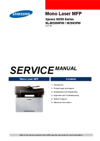 Service Manual Samsung Xpress M288 Series