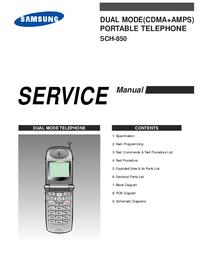 Manual de servicio Samsung SCH-850
