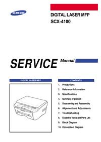 Руководство по техническому обслуживанию Samsung SCX-4100
