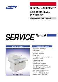 Manual de servicio Samsung SCX-4521F Series
