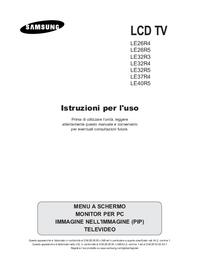 User Manual Samsung LE32R5