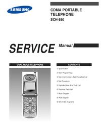 Service Manual Samsung SCH-880