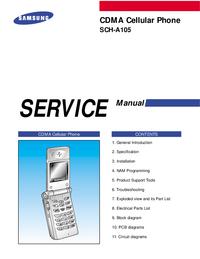 Руководство по техническому обслуживанию Samsung SCH-A105