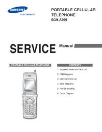 Руководство по техническому обслуживанию Samsung SCH-A399