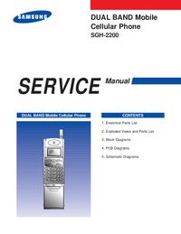 Manuale di servizio Samsung SGH-2200