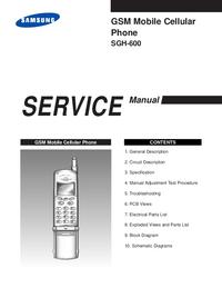 Instrukcja serwisowa Samsung SGH-600