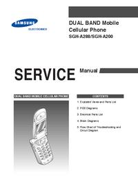 Servicehandboek Samsung SGH-A200
