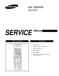 Serviceanleitung Samsung SGH-A500