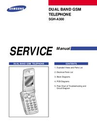 Руководство по техническому обслуживанию Samsung SGH-A300