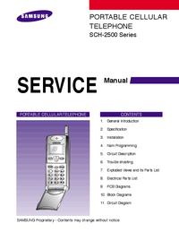 manuel de réparation Samsung SCH-2500 Series