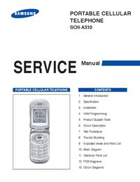 Service Manual Samsung SCH-A310
