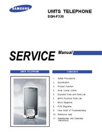 Servicehandboek Samsung SGH-F330