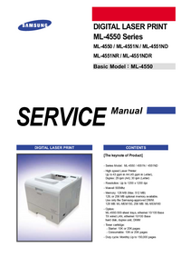 Service Manual Samsung ML-4550