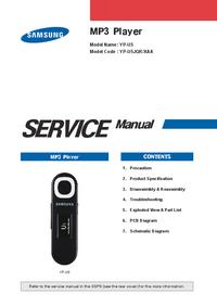 Руководство по техническому обслуживанию Samsung YP-U5